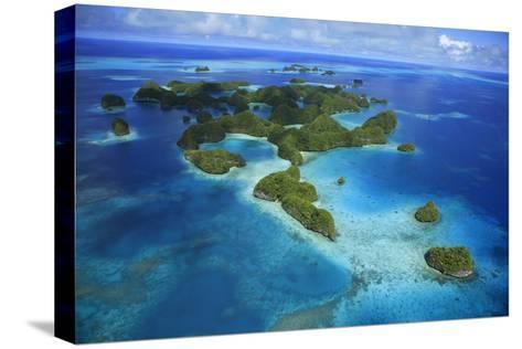 An Aerial Photo of Palau's Rock Islands-Stephen Alvarez-Stretched Canvas Print