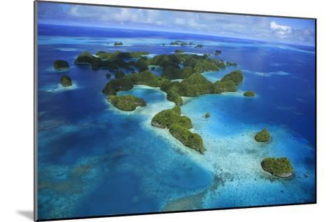 An Aerial Photo of Palau's Rock Islands-Stephen Alvarez-Mounted Photographic Print