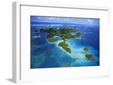 An Aerial Photo of Palau's Rock Islands-Stephen Alvarez-Framed Art Print