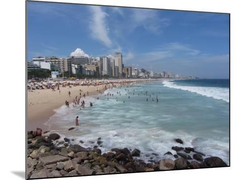 A View Over Leblon and Ipanema Beaches in Rio De Janeiro-Alex Saberi-Mounted Photographic Print