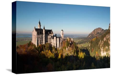 Neuschwanstein Castle in Autumn-Alex Saberi-Stretched Canvas Print