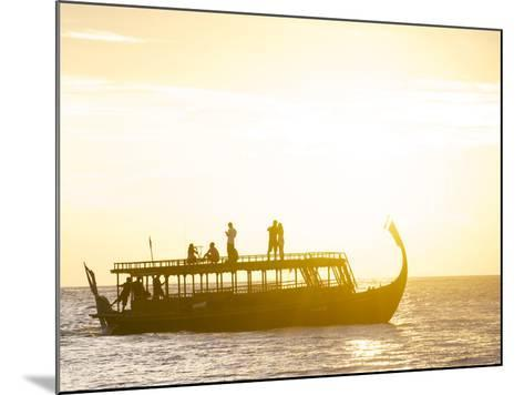 A Dhoni, a Traditional Boat, on a Sunset Cruise in the Maldives-Jad Davenport-Mounted Photographic Print