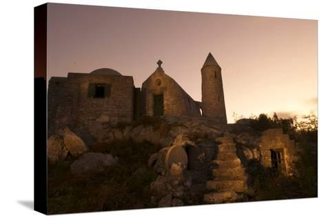 Mt. Alvernia Hermitage and Father Jerome's Tomb Atop Como Hill-Jad Davenport-Stretched Canvas Print
