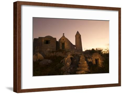 Mt. Alvernia Hermitage and Father Jerome's Tomb Atop Como Hill-Jad Davenport-Framed Art Print