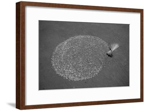 A Makeshift Memorial to the Victims of the July 2002 Mucwini Massacre-Stephen Alvarez-Framed Art Print