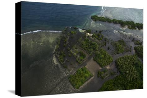 The Ancient Ruins of Micronesia's Nan Madol, Seen From the Air-Stephen Alvarez-Stretched Canvas Print