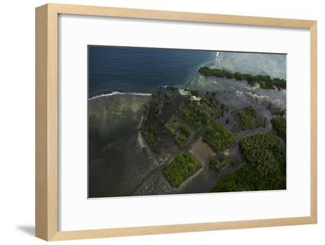 The Ancient Ruins of Micronesia's Nan Madol, Seen From the Air-Stephen Alvarez-Framed Art Print