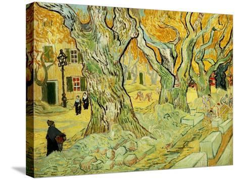 Roadworks At Saint-rémy, 1889-Vincent van Gogh-Stretched Canvas Print
