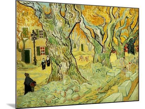 Roadworks At Saint-rémy, 1889-Vincent van Gogh-Mounted Giclee Print