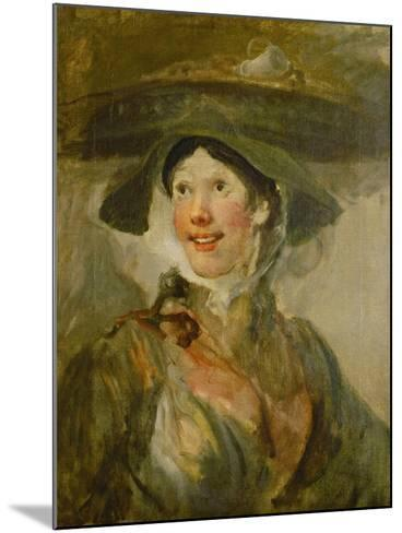 The Shrimp Girl, Ca. 1740-1745-William Hogarth-Mounted Giclee Print
