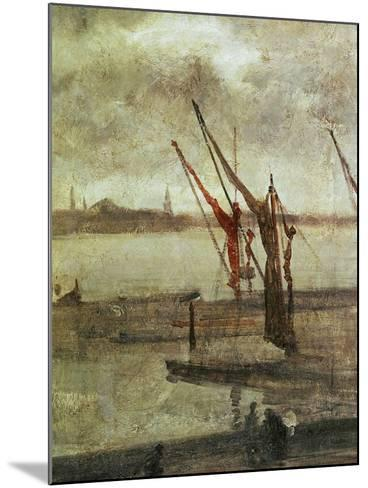 Grey And Silver: Chelsea Wharf, Ca. 1864-1868-James Abbott McNeill Whistler-Mounted Giclee Print