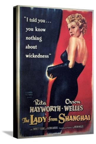 The Lady From Shanghai, Rita Hayworth, Directed by Orson Welles, 1947--Stretched Canvas Print