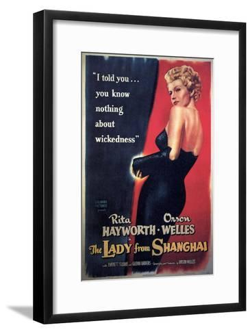 The Lady From Shanghai, Rita Hayworth, Directed by Orson Welles, 1947--Framed Art Print