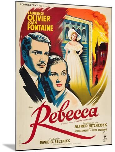 Rebecca, 1940, Directed by Alfred Hitchcock--Mounted Giclee Print