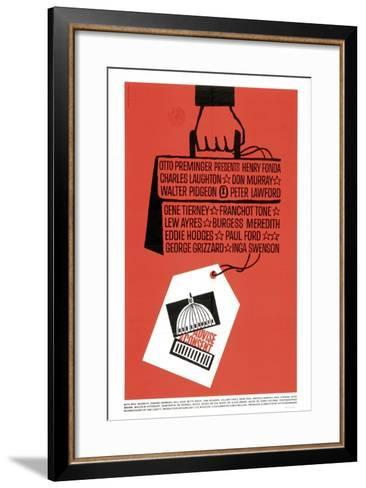 Advise And Consent, 1962, Directed by Otto Preminger--Framed Art Print
