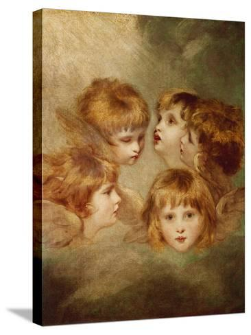 A Child's Portrait In Different Views: Angel's Heads, 1787-Sir Joshua Reynolds-Stretched Canvas Print