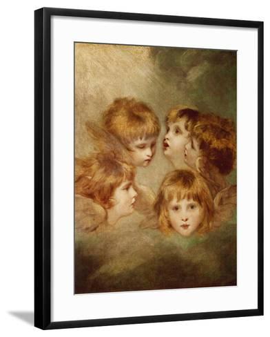 A Child's Portrait In Different Views: Angel's Heads, 1787-Sir Joshua Reynolds-Framed Art Print