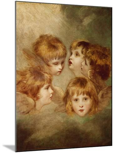 A Child's Portrait In Different Views: Angel's Heads, 1787-Sir Joshua Reynolds-Mounted Giclee Print