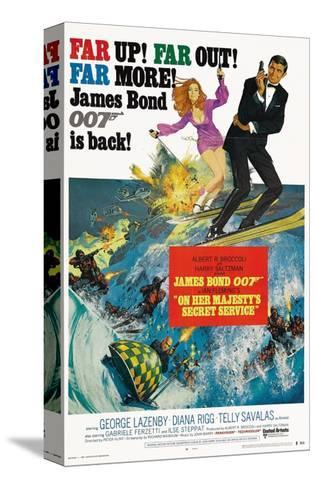 """007, James Bond: On Her Majesty's Secret Service"" 1969, Directed by Peter Hunt--Stretched Canvas Print"