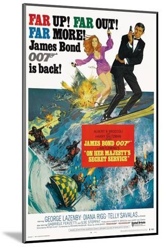 """007, James Bond: On Her Majesty's Secret Service"" 1969, Directed by Peter Hunt--Mounted Giclee Print"