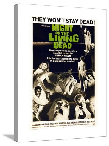 """""""Night of the Living Dead"""" Directed by George A. Romero--Stretched Canvas Print"""