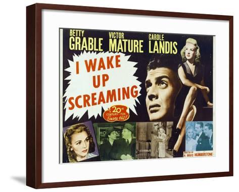 """Hot Spot, 1941, """"I Wake Up Screaming"""" Directed by H. Bruce """"Lucky"""" Humberstone--Framed Art Print"""