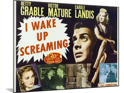 """Hot Spot, 1941, """"I Wake Up Screaming"""" Directed by H. Bruce """"Lucky"""" Humberstone--Mounted Giclee Print"""