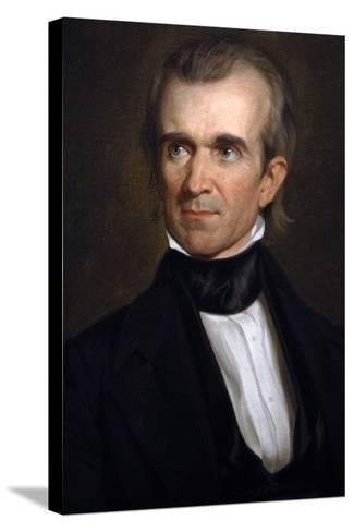 James K. Polk . 11th President of the United States. Washington D.c-George Peter Alexander Healy-Stretched Canvas Print