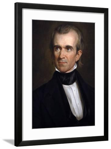 James K. Polk . 11th President of the United States. Washington D.c-George Peter Alexander Healy-Framed Art Print