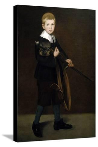"""""""Boy With a Sword"""" 1861-Edouard Manet-Stretched Canvas Print"""