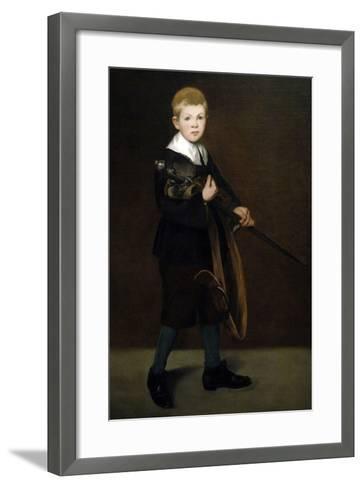 """Boy With a Sword"" 1861-Edouard Manet-Framed Art Print"