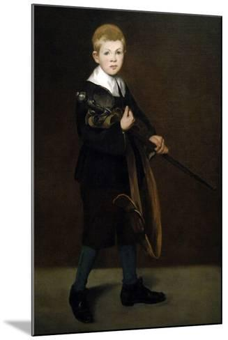 """""""Boy With a Sword"""" 1861-Edouard Manet-Mounted Giclee Print"""