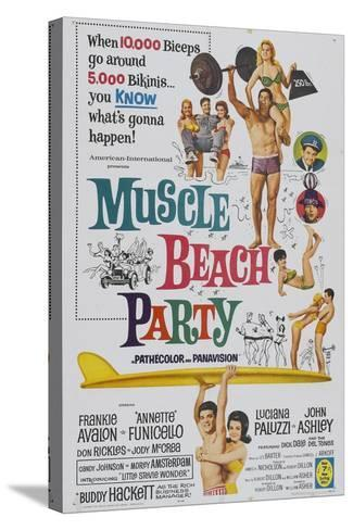 Muscle Beach Party, 1964, Directed by William Asher--Stretched Canvas Print