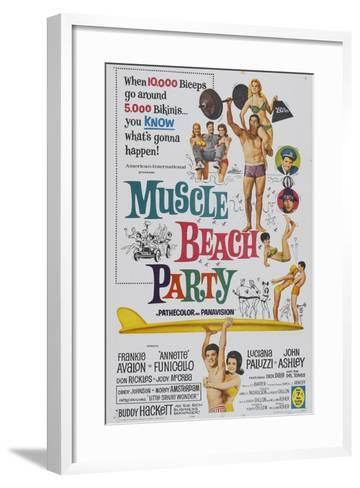 Muscle Beach Party, 1964, Directed by William Asher--Framed Art Print