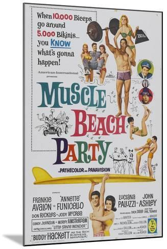 Muscle Beach Party, 1964, Directed by William Asher--Mounted Giclee Print