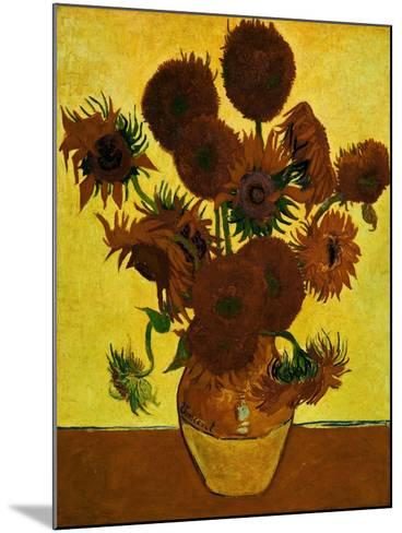 Sunflowers, 1888-Vincent van Gogh-Mounted Giclee Print
