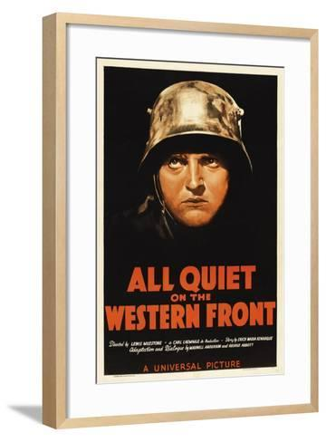 All Quiet On the Western Front, 1930, Directed by Lewis Milestone--Framed Art Print