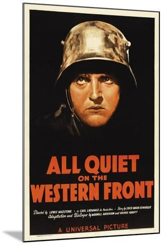 All Quiet On the Western Front, 1930, Directed by Lewis Milestone--Mounted Giclee Print