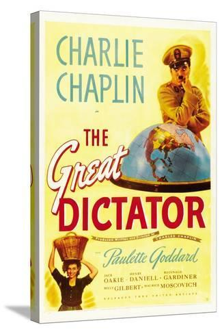 """The Dictator, 1940 """"The Great Dictator"""" Directed by Charles Chaplin--Stretched Canvas Print"""
