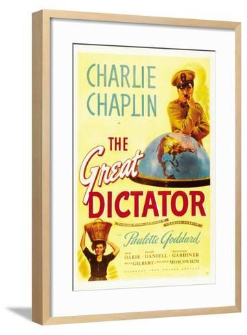 """The Dictator, 1940 """"The Great Dictator"""" Directed by Charles Chaplin--Framed Art Print"""