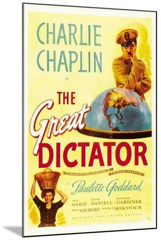 """The Dictator, 1940 """"The Great Dictator"""" Directed by Charles Chaplin--Mounted Giclee Print"""