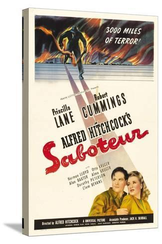 Saboteur, 1942, Directed by Alfred Hitchcock--Stretched Canvas Print