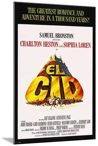 El Cid, 1961, Directed by Anthony Mann--Mounted Giclee Print