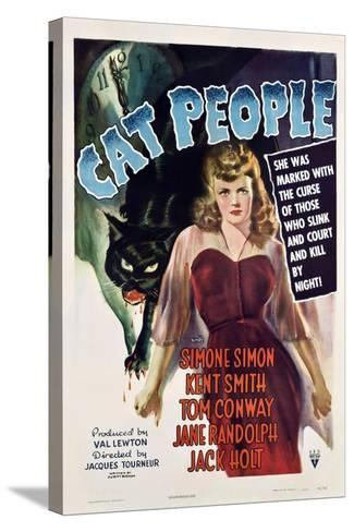 Cat People, 1942, Directed by Jacques Tourneur--Stretched Canvas Print