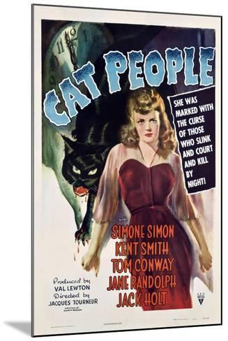 Cat People, 1942, Directed by Jacques Tourneur--Mounted Giclee Print