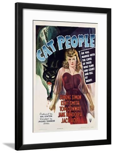 Cat People, 1942, Directed by Jacques Tourneur--Framed Art Print