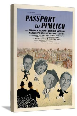 Passport To Pimlico, 1949, Directed by Henry Cornelius--Stretched Canvas Print