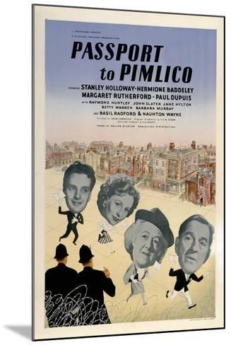 Passport To Pimlico, 1949, Directed by Henry Cornelius--Mounted Giclee Print