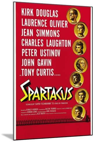 """Spartacus: Rebel Against Rome, 1960, """"Spartacus"""" Directed by Stanley Kubrick--Mounted Giclee Print"""