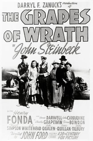 """Daryl F. Zanuck's Producion of """"The Grapes of Wrath"""" by John Steinbck--Stretched Canvas Print"""
